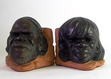 -2- aussergewöhnliche figürliche Keramik Buchstützen - Aborigines Australia sign