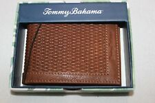 Tommy Bahama Men's Brown Congac Genuine Leather Passcase Bifold Wallet $68 NIB