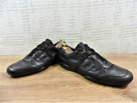 Prada Men's Brown Glove Soft Leather  trainers sneakers UK 9.5 US 10.5 EU 43.5