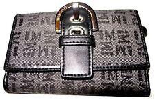 MORELLATO billetero monedero piel /textil Leather Wallet Italia Nuevo Morelato