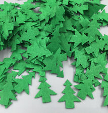 100pcs Padded Felt Green Christmas Tree Kid's Appliques Decorative Craft 25mm
