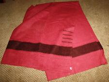 "VINTAGE Hudson Bay 4 Point Wool Blanket Pink 68"" x 88"" Cranberry Pink"
