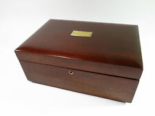 Refinished and Repurposed Antique Solid Mahogany Cigar Humidor + Felt Lining