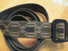 Patagonia Friction Belt Army Green Geometric Design 43 Inches Canvas GUC*pilling