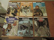 Lot LES HEROS CAVALIERS TARRAL COTHIAS ROUGE Glénat Collection vécu 6 tomes + EO
