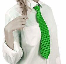 Krawatte Pailletten Glitzer Krawatte Party Fasching Pailletten Krawatte Grün