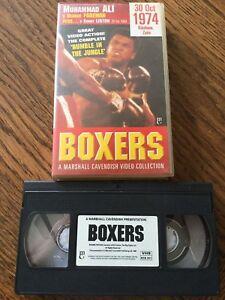 Boxers Muhammad Ali v George Foreman Plus Sonny Liston VHS Cassette Tape