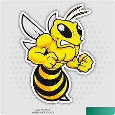 Angry Bee Self Adhesive Car Sticker - Novelty Bumper Decal, Car, Van, iPad