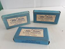 Jiffy mounts small med lrg Various lot photograph developing photography vintage