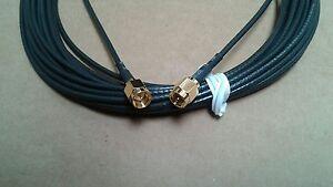 SMA male  TO  SMA  male LMR-100A  coax cable  15 ft  50 ohm   (plug to plug)