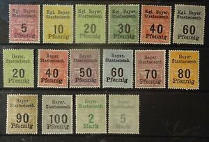 Germany, Bavaria. A collection of mint Railway stamps