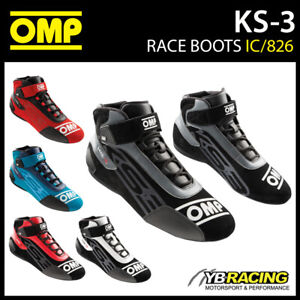 IC/826 OMP KS3 KS-3 KART BOOTS 2021 NEW MODEL SUEDE LEATHER 4 COLOURS SIZE 32-47