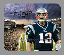 Item#1534 Tom Brady The Win New England Patriots Facsimile Autographed Mouse Pad