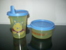 Tupperware Disney Pooh First Mini Meal Set Bell Tumbler Sippy Sipper & Bowl Rare
