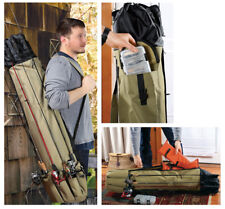 PORTABLE FISHING ROD CASE & ORGANIZER SPORTING GOODS GIFT NEW IN BOX