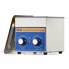 Commercial 6l Ultrasonic Cleaner With Timer Stainless Steel Jewelry Glasses