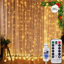LED String lights Curtain Garland Christmas Decoration Remote Control USB Power