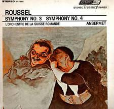 CLASSICAL LP ROUSSEL SYMPHONY NO. 3 & 4 ANSERMET L'ORCHESTRE SUISSE ROMANDE