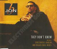 JON B THEY DON'T KNOW CD SINGLE UK 1998 YAB YUM/EPIC RECORDS 666397 5