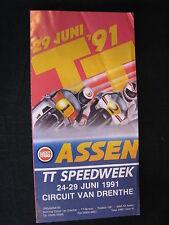 Flyer TT Assen, zaterdag 29  juni 1991 Circuit van Drenthe (TTC)