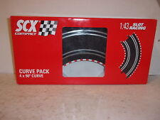 SCX Compact 90 Degree Curve 4 Pack 1:43 Slot Racing Track #31380 - NEW