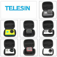 TELESIN Black Mini Action Camera Bag Case for GoPro Hero 8 7 6 5 4 3 Xiaoyi DJI