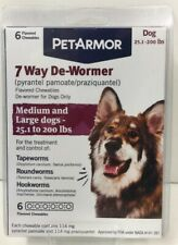 (New) PetArmor 7 Way De-Wormer For Dogs (25.1-200 lbs), 6 Tabs