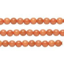Round Malaysia Jade Beads (Dyed) Peach 10mm 16 Inch Strand