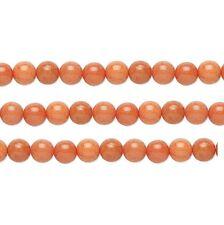 Round Malaysia Jade Beads (Dyed) Peach 10mm 16 Inch Strand
