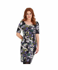 Women's Floral Scoop Neck Wiggle, Pencil Knee Length Dresses