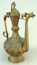 "! Antique 1800's SUPERB Qajar Indo-Persian Heavy Copper IBRIK Water Ewer 15.5"""
