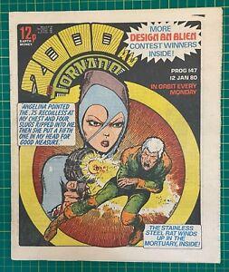 Bagged & Boarded 2000 AD Comic Prog 147 - 12 Jan 1980 - Ref 2K278