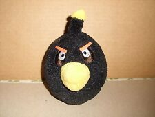 "Angry Birds 5"" Black Bomb Bird Plush NO SOUND 2010 COMMONWEALTH TOYS"
