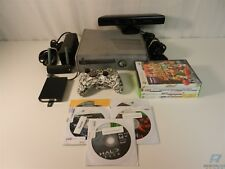 Microsoft Xbox 360 S Console Bundle - 1 Controller, Kinect, 9 Games, Cables