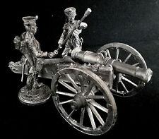 Zinnfiguren Die Kanone mit zwei Kanoniere  54mm
