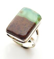 6.10 Gm Natural chrysoprase Ring Gemstone 925 Solid Sterling Silver Us 6.5 T1231