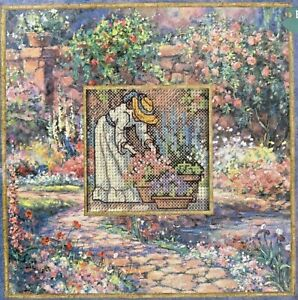 2001 Vintage Dimensions Counted Cross Stitch Kit 72714 Flower Garden 8x8 10083