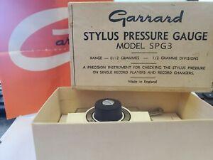 GARRARD STYLUS PRESSURE GAUGE SPG3. MADE IN ENGLAND