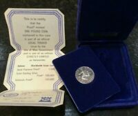 1978🔹️Isle Of Man Silver One Pound Coin Clam Box+CoA GB UK