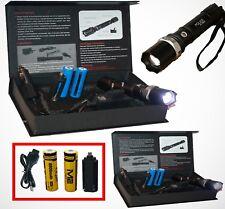 2x Taschenlampe USB Kabel Akku Swat Led Cree Polizei 1000 M Leuchtweite 4x 8800