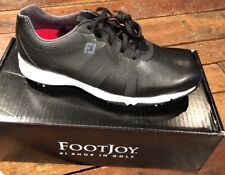 NEW FootJoy Energize Spiked Golf Shoes Style 58131 Black Size 9W