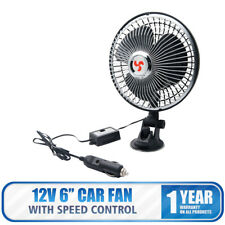 "12V 6"" Powerful Car Van Fan Oscillating Window Dashboard Mount Cooling Cooler"