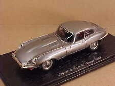 Spark #S2128  1/43 Resin 1968 Jaguar E Type S2 Coupe with RHD, Silver