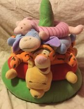 "Disney Baby Winnie the Pooh Plush Ring Toss Pillow Stacking Rings 17""x16"" (121)"