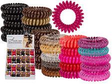 Spiral-Haargummi, Telefonkabel, Haargummi, Pink & Rot, 5 Stück lose im Beutel
