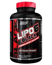NUTREX LIPO 6 BLACK 120 CAPSULES Extreme Weight Loss Support Fat Burner Potency!