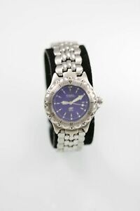 Fossil Blue Watch Womens Stainless Silver Steel 50m Water Resist Battery Quartz