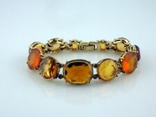 Nwot Euc Mint Condition Gold Monet Multi-Stone Citrine Bracelet Designer 7-3/4""