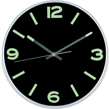 New Large Non Ticking Wall Clock Indoor Outdoor Silent Modern Quartz Design 12in