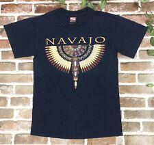 Vintage Navajo Tribal Indian Native T Shirt Black Sportex USA Made Size Small